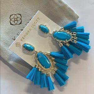 Kristen earrings gold aqua howlite